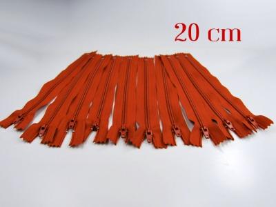 10 x 20cm fuchsfarbene Reißverschlüsse - 10 Reißverschlüße im Setsonderpreis