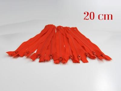 10 x 20cm orangene Reißverschlüsse - 10 Reißverschlüße im Setsonderpreis