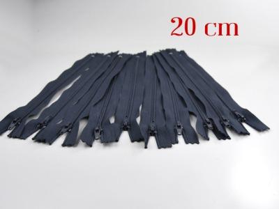 10 x 20cm blaugraue Reißverschlüsse - 10 Reißverschlüße im Setsonderpreis
