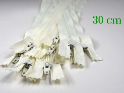 10 x 30 cm cremeweiße Reißverschlüsse - 10 Reißverschlüsse zum Setsonderpreis
