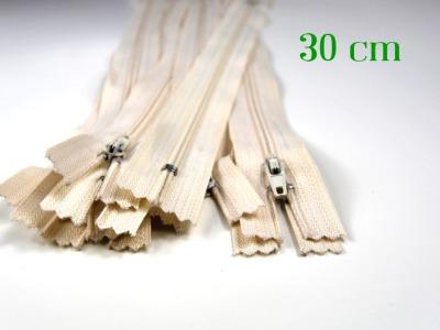 10 x 30 cm sandfarbene Reißverschlüsse - 10 Reißverschlüsse zum Setsonderpreis