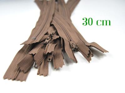10 x 30 cm milchkaffeefarbene Reißverschlüsse