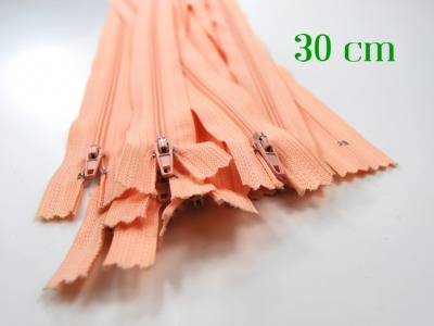 10 x 30 cm apricotfarbene Reißverschlüsse - 10 Reißverschlüsse zum Setsonderpreis