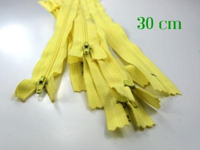 10 x 30 cm vanillefarbene Reißverschlüsse - 10 Reißverschlüsse zum Setsonderpreis