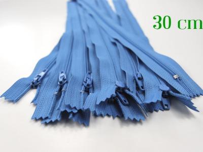 10 x 30cm hellblaue Reißverschlüsse - 10 Reißverschlüsse zum Setsonderpreis