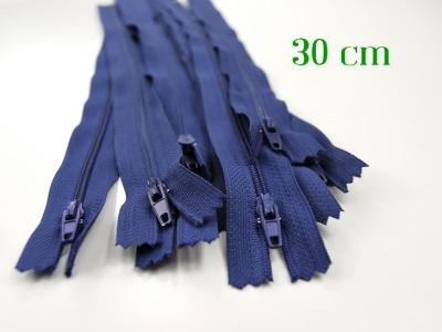 10 x 30cm mittelblaue Reißverschlüsse - 10 Reißverschlüsse zum Setsonderpreis