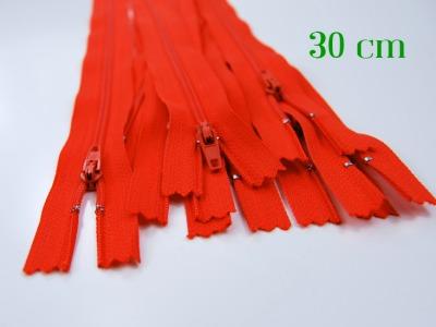 10 x 30cm orangene Reißverschlüsse - 10 Reißverschlüsse zum Setsonderpreis