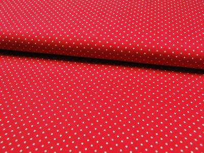 Rote Baumwolle mit weißen Punkten Meter