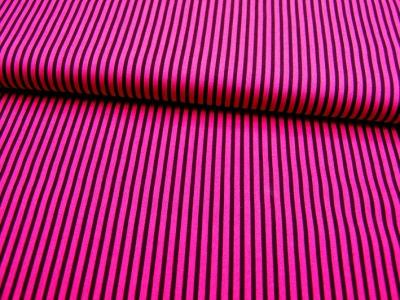 Pinke-Dunkellila gestreifte Baumwolle 0,5m