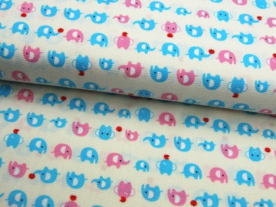 Cosmo - Elefanten in Hellblau und Rosa 0,5 Meter