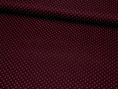 Auberginefarbene Baumwolle mit Minipunkte 0,5m