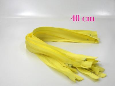 10 x 40 cm vanillefarbene Reißverschlüsse - 10 Reißverschlüsse zum Setsonderpreis