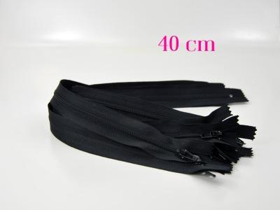 10 x 40 cm schwarze Reißverschlüsse - 10 Reißverschlüsse zum Setsonderpreis