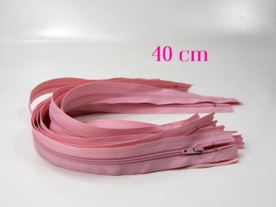 10 x 40 cm altrosa Reißverschlüsse - 10 Reißverschlüsse zum Setsonderpreis