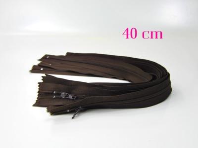 10 x 40 cm schokobraune Reißverschlüsse - 10 Reißverschlüsse zum Setsonderpreis