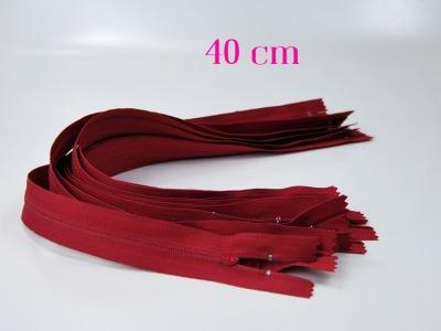 10 x 40cm dunkelrote Reißverschlüsse - 10 Reißverschlüsse zum Setsonderpreis