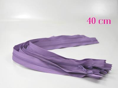 10 x 40cm fliederfarbene Reißverschlüsse - 10 Reißverschlüsse zum Setsonderpreis