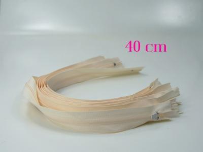 10 x 40 cm sandfarbene Reißverschlüsse - 10 Reißverschlüsse zum Setsonderpreis