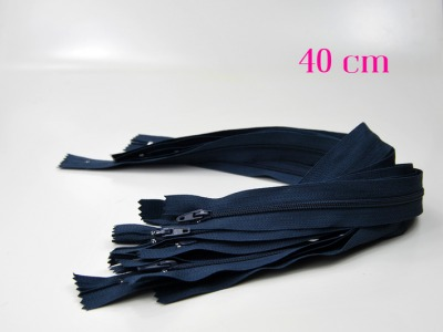 10 x 40 cm nachtblaue Reißverschlüsse - 10 Reißverschlüsse zum Setsonderpreis
