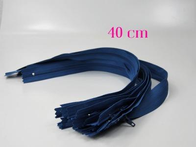 10 x 40 cm mittelblaue Reißverschlüsse - 10 Reißverschlüsse zum Setsonderpreis