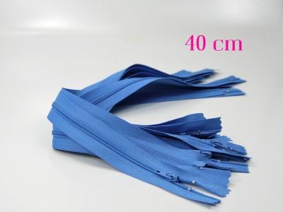 10 x 40 cm hellblaue Reißverschlüsse - 10 Reißverschlüsse zum Setsonderpreis