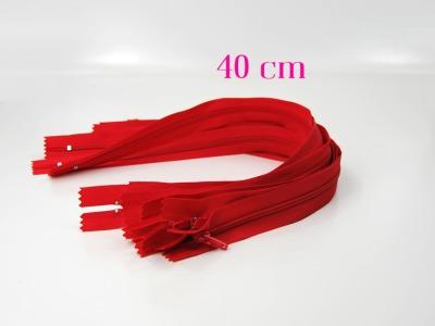 10 x 40 cm kirschrote Reißverschlüsse - 10 Reißverschlüsse zum Setsonderpreis