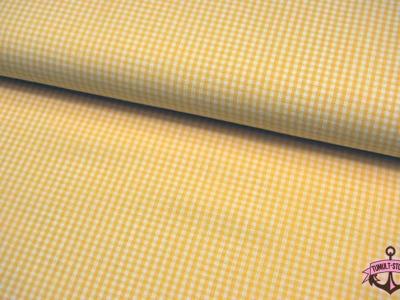 kleines Karo Gelb - Baumwolle 0,5 Meter