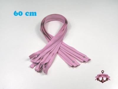 5 x 60 cm rosa Reißverschlüsse - 5 Reißverschlüße im Setsonderpreis