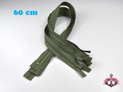 5 x 60 cm moosgrün Reißverschlüsse