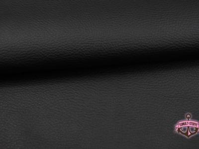 Kunstleder in Schwarz - 0 5 Meter - ...und kein Tier musste fuer dieses Leder sterben