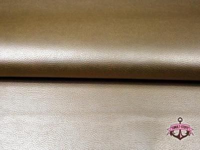 Kunstleder in Gold - 0,5 m - ...und kein Tier musste für dieses Leder sterben