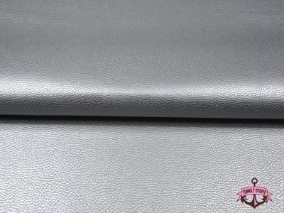 Kunstleder in Silber - 0,5 Meter - ...und kein Tier musste für dieses Leder sterben