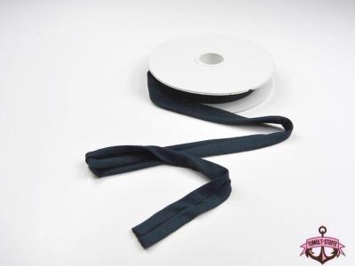 Jerseyband - 1 Meter in Nachtblau - Elastisches einfarbiges Baumwollband