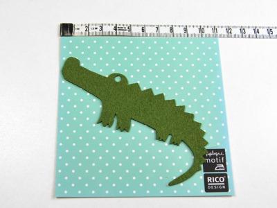 Aufbügler: Krokodil - Kleiner Hingucker.