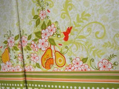 Decadence-Blumen Kolibri Panel Baumwolle 059m
