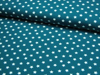 Jersey Weiße Sterne auf Petrol Meter