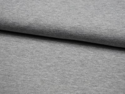 JERSEY - UNI: Graumeliert - 0,5 Meter