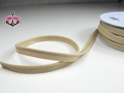Kunstleder Paspelband in Sand - 1