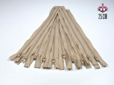 10 x 25 cm hellbeige Reißverschlüsse - 10 Reißverschlüße zum Setsonderpreis