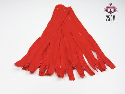 10 x 25 cm kirschrote Reißverschlüsse - 10 Reißverschlüße im Setsonderpreis