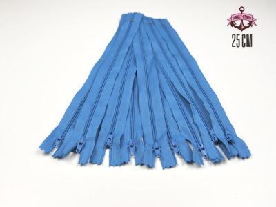 10 x 25 cm hellblaue Reißverschlüsse - 10 Reißverschlüße zum Setsonderpreis