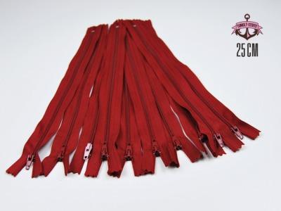 10 x 25 cm dunkelrote Reißverschlüsse - 10 Reißverschlüße im Setsonderpreis