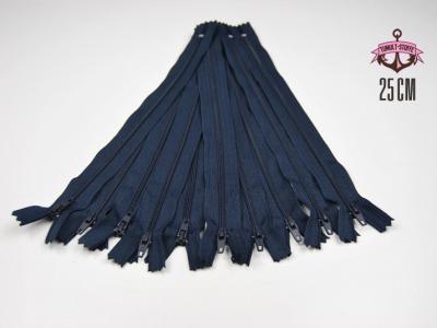 10 x 25 cm nachtblaue Reißverschlüsse - 10 Reißverschlüße im Setsonderpreis
