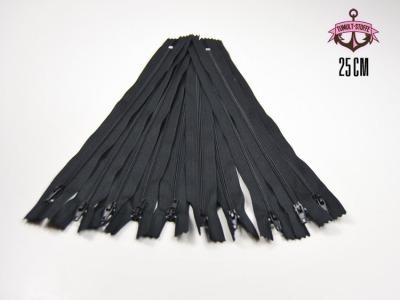 10 x 25 cm schwarze Reißverschlüsse - 10 Reißverschlüße im Setsonderpreis