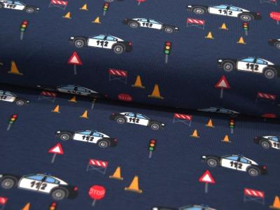 Jersey Verkehrspolizei Polizeiautos und Verkehrszeichen 05m