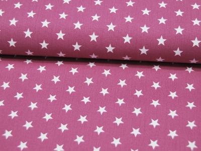 Petit Stars Sterne auf Mauve Baumwolle