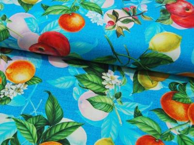 Baumwolle Panama Digital Print Fruit 05m