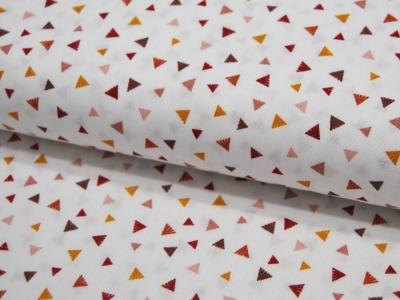 Baumwolle Triangle Kleine Dreiecke auf Weiß
