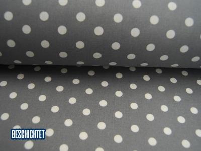 Beschichtete Baumwolle Weiße Dots auf Grau