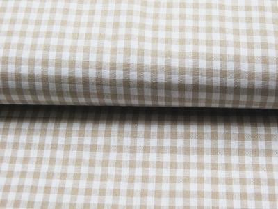 Karo in Beige - Baumwolle 0,5 Meter